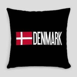 Denmark: Danish Flag & Denmark Everyday Pillow