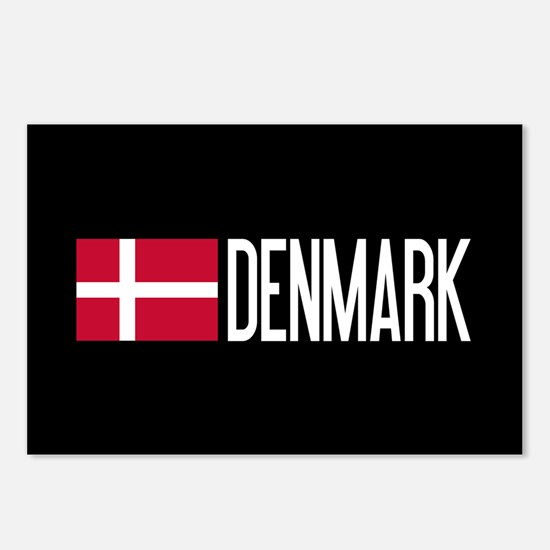 Denmark: Danish Flag & De Postcards (Package of 8)