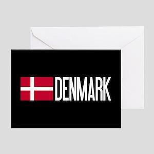 Denmark: Danish Flag & Denmark Greeting Card