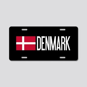 Denmark: Danish Flag & Denm Aluminum License Plate