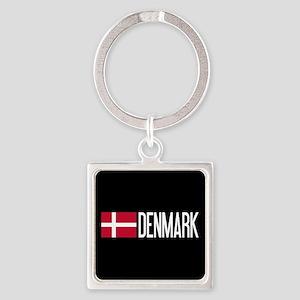 Denmark: Danish Flag & Denmark Square Keychain