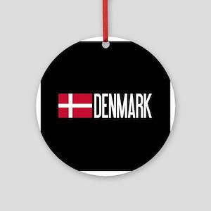 Denmark: Danish Flag & Denmark Round Ornament