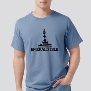 Emerald Isle NC - Lighthouse Design White T-Shirt