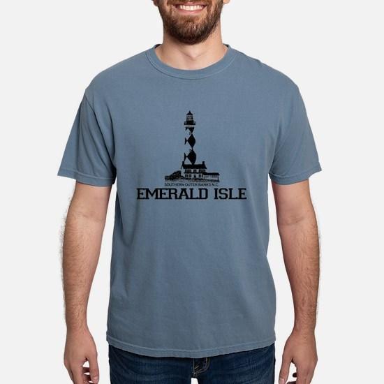 Emerald Isle NC - Lighthouse Design White T-Shirt