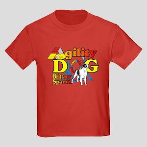 Brittany Agility Kids Dark T-Shirt