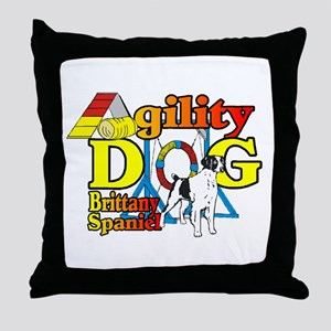 Brittany Agility Throw Pillow