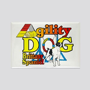 Brittany Agility Rectangle Magnet (10 pack)