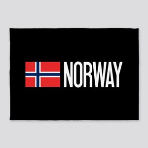 Norway: Norwegian Flag & Norway 5'x7'Area Rug
