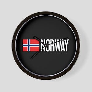 Norway: Norwegian Flag & Norway Wall Clock