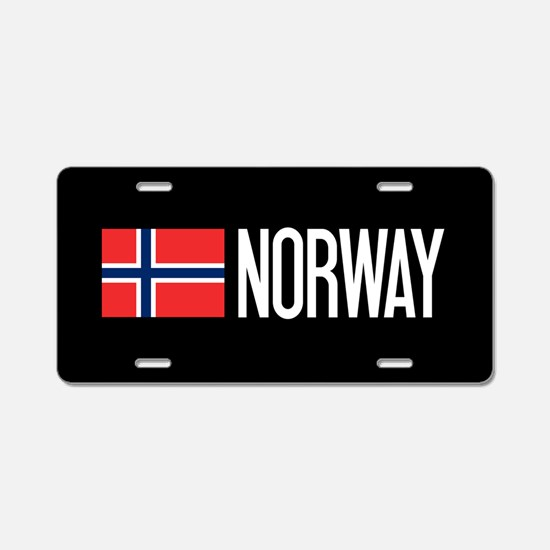 Norway: Norwegian Flag & No Aluminum License Plate