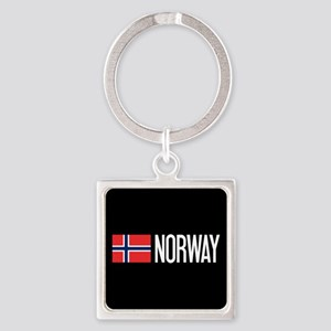 Norway: Norwegian Flag & Norway Square Keychain