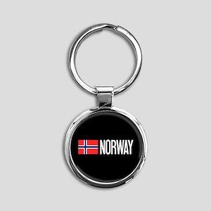 Norway: Norwegian Flag & Norway Round Keychain