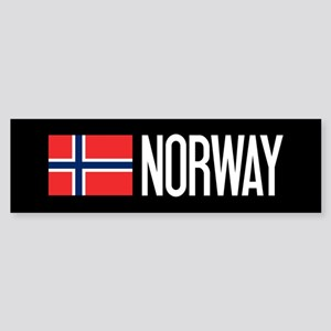 Norway: Norwegian Flag & Norway Sticker (Bumper)