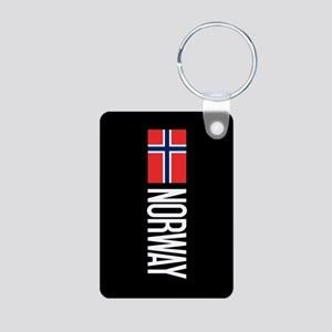 Norway: Norwegian Flag & N Aluminum Photo Keychain