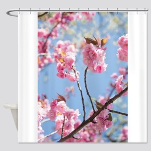 Elevating blooms Shower Curtain