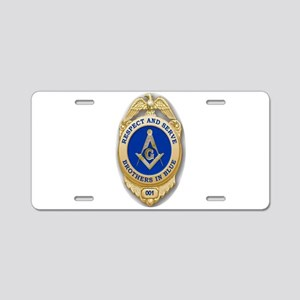Respect & Serve Aluminum License Plate