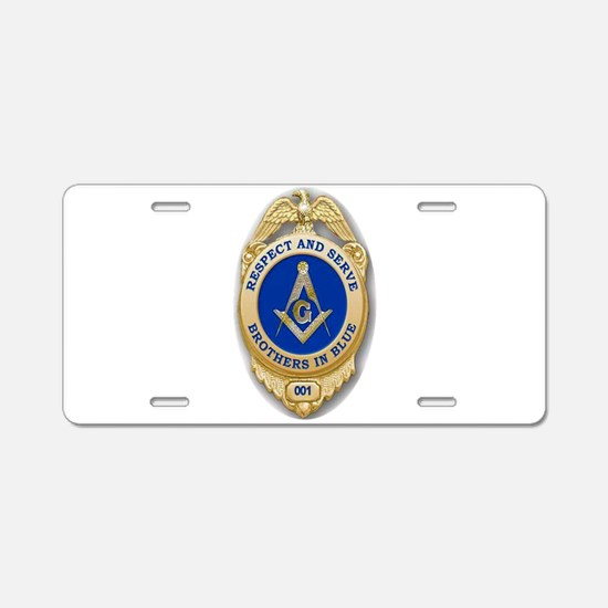 Respect & Serve Aluminum License Plate
