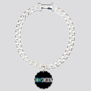 Sweden: Swedish Flag & S Charm Bracelet, One Charm