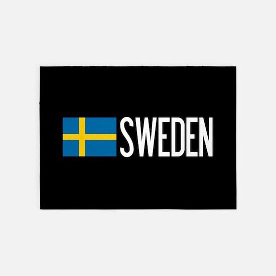 Sweden: Swedish Flag & Sweden 5'x7'Area Rug