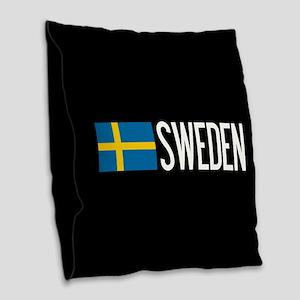 Sweden: Swedish Flag & Sweden Burlap Throw Pillow