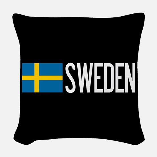 Sweden: Swedish Flag & Sweden Woven Throw Pillow