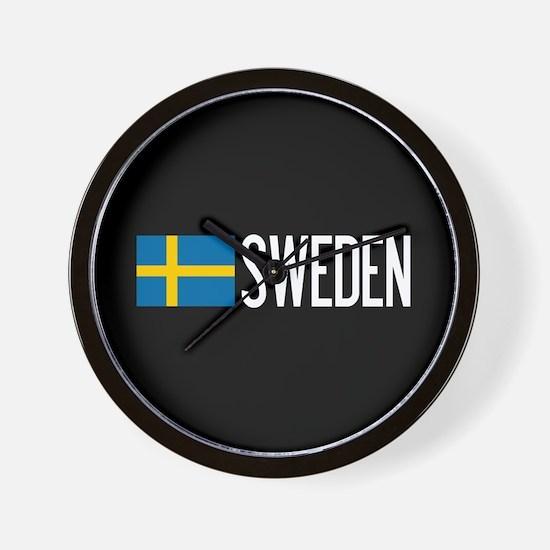 Sweden: Swedish Flag & Sweden Wall Clock