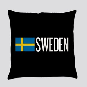 Sweden: Swedish Flag & Sweden Everyday Pillow