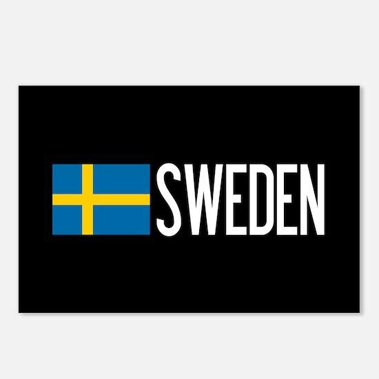 Sweden: Swedish Flag & Sw Postcards (Package of 8)