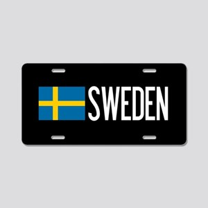 Sweden: Swedish Flag & Swed Aluminum License Plate