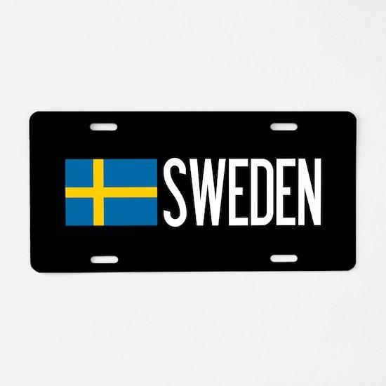 Sweden: Swedish Flag & Swed Aluminum License Plate