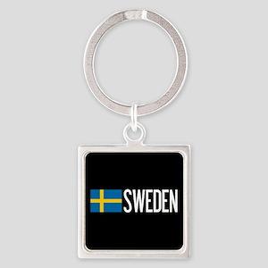 Sweden: Swedish Flag & Sweden Square Keychain