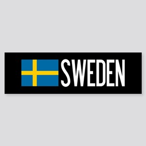 Sweden: Swedish Flag & Sweden Sticker (Bumper)
