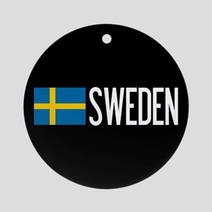 Sweden: Swedish Flag & Sweden Round Ornament