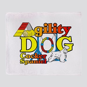 Cocker Spaniel Agility Throw Blanket