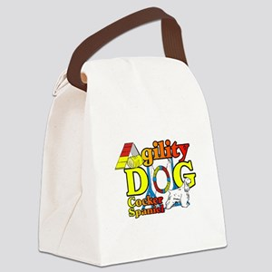 Cocker Spaniel Agility Canvas Lunch Bag
