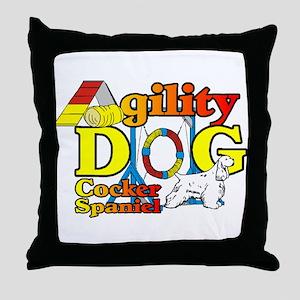 Cocker Spaniel Agility Throw Pillow