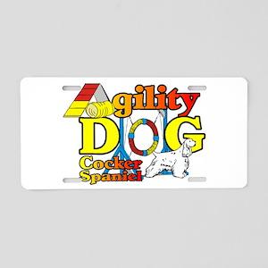 Cocker Spaniel Agility Aluminum License Plate