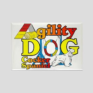 Cocker Spaniel Agility Rectangle Magnet (10 pack)