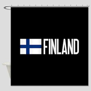 Finland: Finnish Flag & Finland Shower Curtain