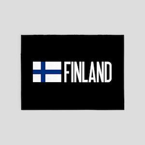 Finland: Finnish Flag & Finland 5'x7'Area Rug