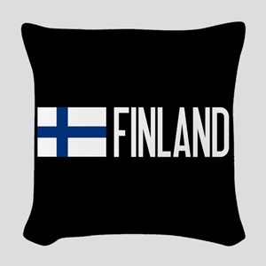Finland: Finnish Flag & Finlan Woven Throw Pillow