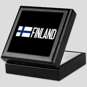 Finland: Finnish Flag & Finland Keepsake Box