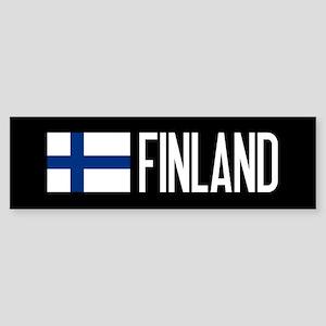 Finland: Finnish Flag & Finland Sticker (Bumper)