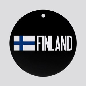 Finland: Finnish Flag & Finland Round Ornament
