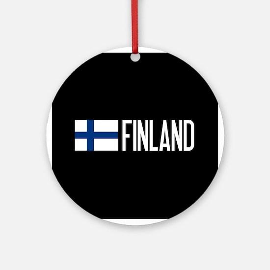 Finland: Finnish Flag & Finland Round Ornament