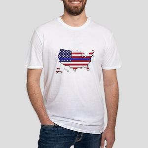 Thin Blue Line US Flag T-Shirt