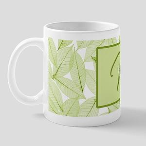 Leaves Monogram W Mug