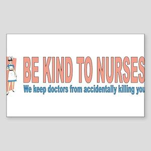 Be kind to nurses Sticker