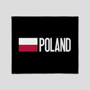 Poland: Polish Flag & Poland Throw Blanket