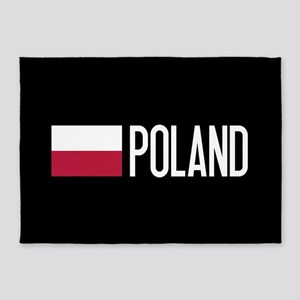 Poland: Polish Flag & Poland 5'x7'Area Rug